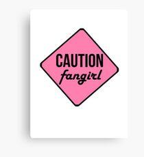 Caution 2 Tshirt Canvas Print