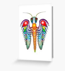 The very rare duck-winged cicada Greeting Card