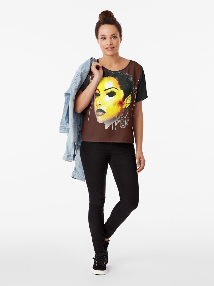 Alternate view of  BIG Chop Journey Tshirt Afro Hair Natural Hair Chiffon Top