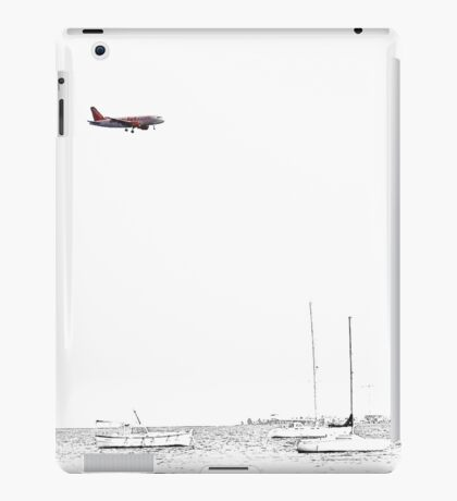Landing on a bright and sunny day iPad Case/Skin