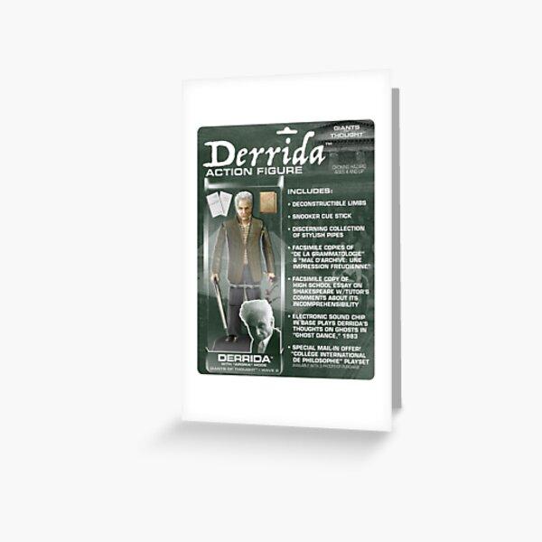 Derrida Action Figure Greeting Card