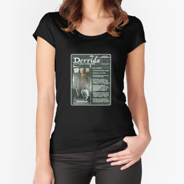 Derrida Action Figure Fitted Scoop T-Shirt