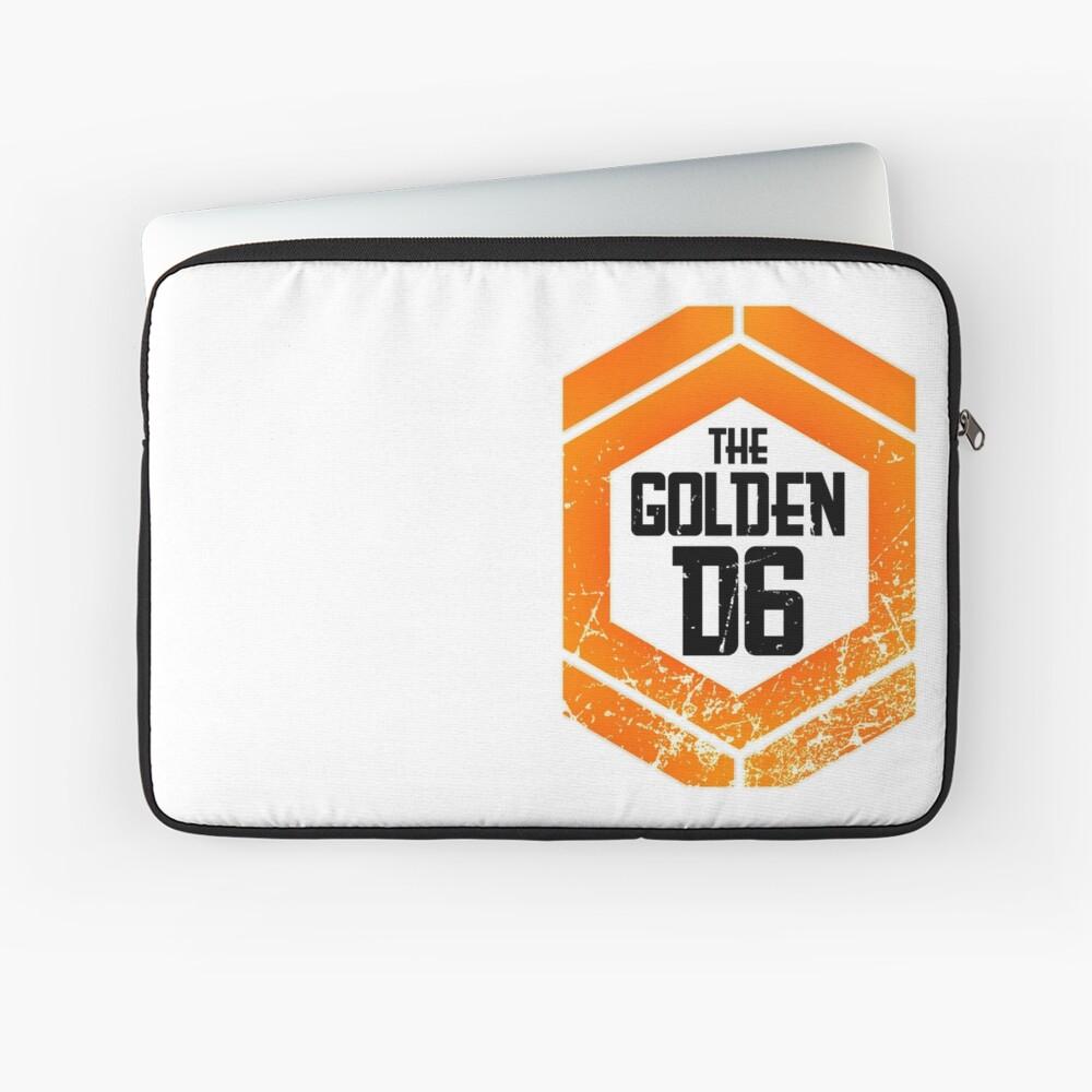 The official Golden D6 merchandise shop Laptop Sleeve Front