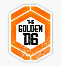 The official Golden D6 merchandise shop Sticker