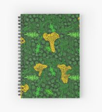 Edgy Chanterelle Moss Spiral Notebook