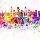 Peshawar-Skyline im Aquarellhintergrund von paulrommer