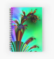 Fractal Cactus Spiral Notebook