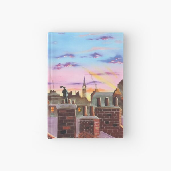 Mary Poppins and Bert  Hardcover Journal