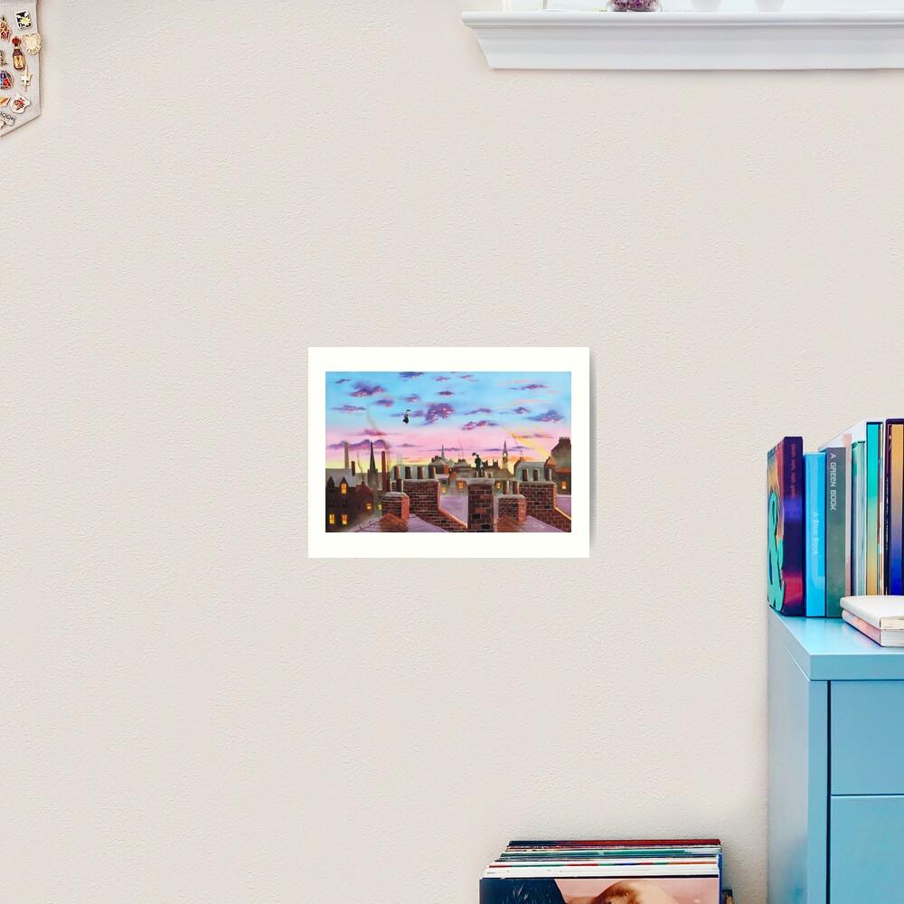 Mary Poppins and Bert  Art Print