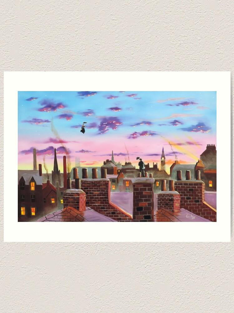 Alternate view of Mary Poppins and Bert  Art Print