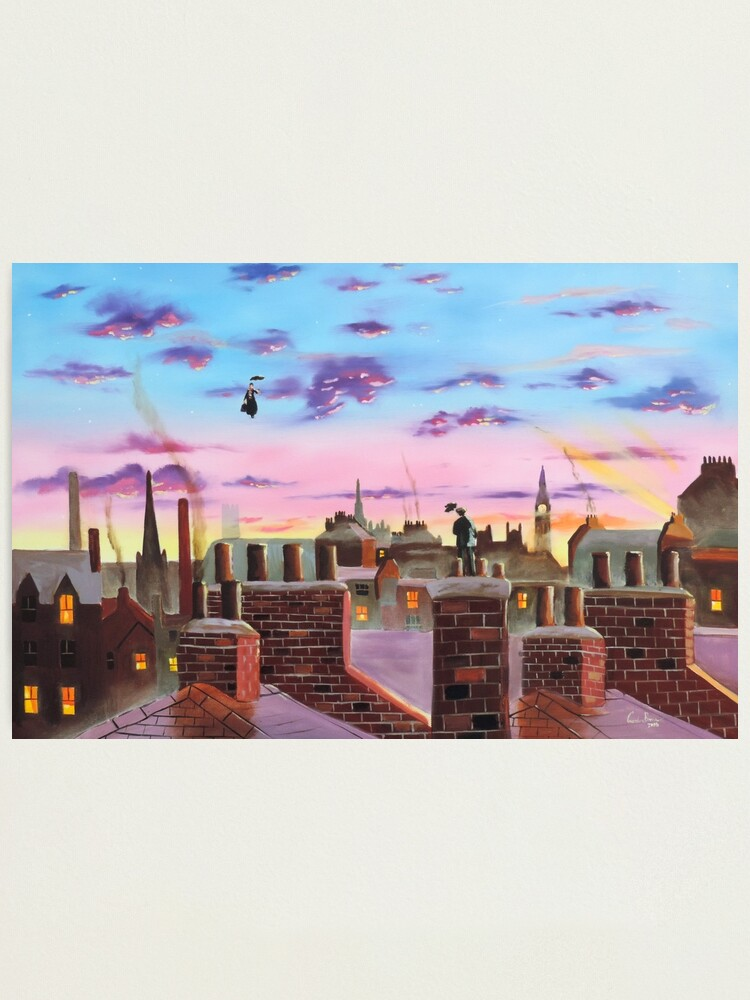 Alternate view of Mary Poppins and Bert  Photographic Print
