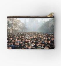 Antwerp, Belgium, a few hours after the Germans surrendered and an end of World War I. 11th November 1918 Zipper Pouch