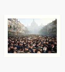 Antwerp, Belgium, a few hours after the Germans surrendered and an end of World War I. 11th November 1918 Art Print