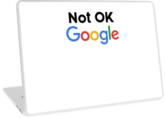 'Not OK Google' Laptop Skin by hadicazvysavaca