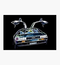 DeLorean Back Again... From the Past!!! Photographic Print