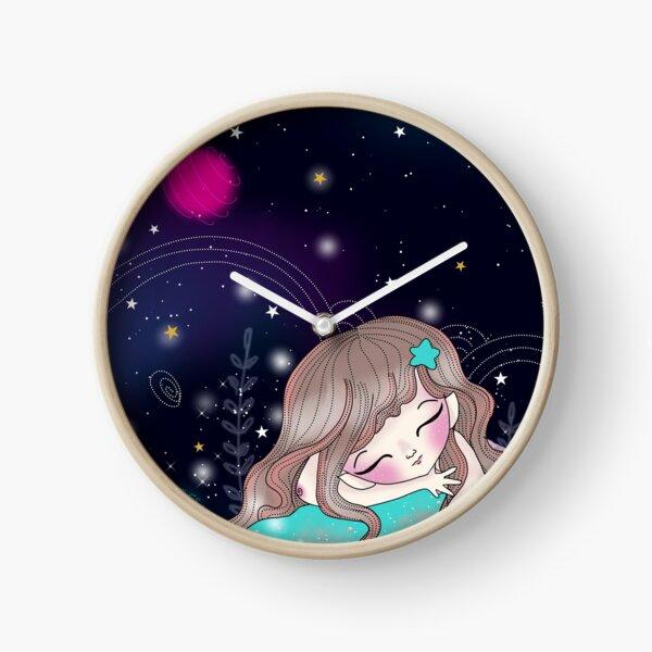 Sirène à la belle étoile Horloge