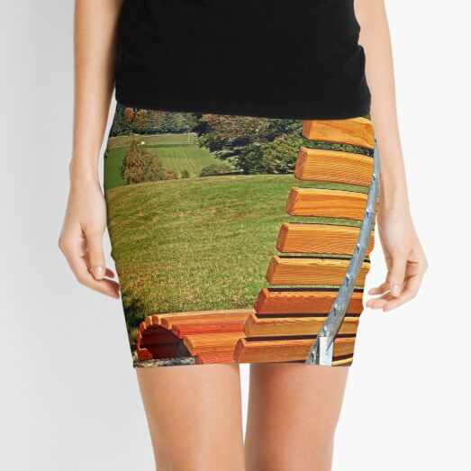 Bench with a view | conceptual photography Mini Skirt