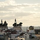 Quadrigas Warriors and Rooftops - a Triumphal Ride over Marvelous Madrid by Georgia Mizuleva