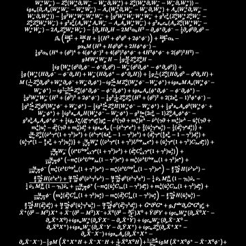 Standard Model Lagrangian Higgs Boson Formula Physics Teacher by TheCreekMan