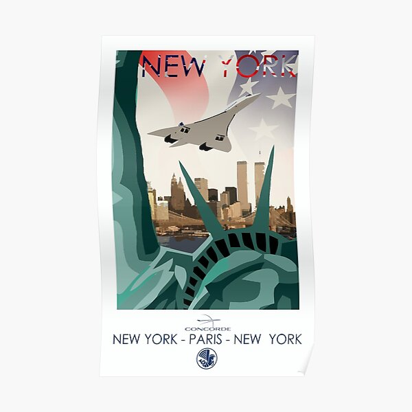 Concorde Air France New York Poster