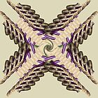 Purple and Cream color pearl texture Cross Art  by hutofdesigns