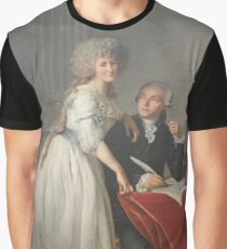 Portrait of Antoine-Laurent Lavoisier and his Wife #twopeople #20years #youngadult #40years #matureadult #adult #people #dress #furniture #veil #facialexpression #portrait #realpeople #Lavoisier  Graphic T-Shirt