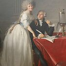 Portrait of Antoine-Laurent Lavoisier and his Wife #twopeople #20years #youngadult #40years #matureadult #adult #people #dress #furniture #veil #facialexpression #portrait #realpeople #Lavoisier  by znamenski