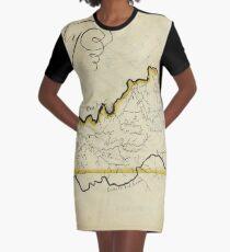 Vintage Karte von Kentucky (1823) T-Shirt Kleid