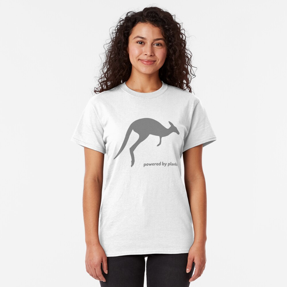 powered by plants - kangaroo Classic T-Shirt