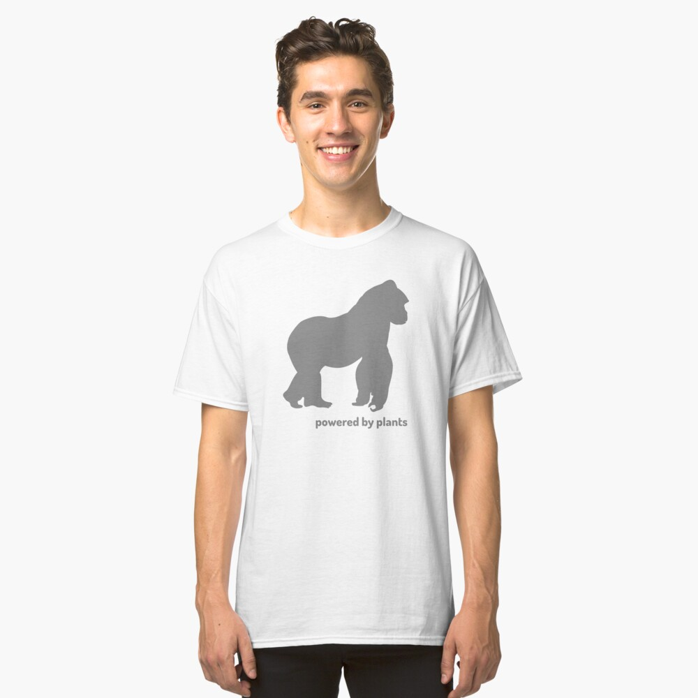 powered by plants - gorilla Classic T-Shirt