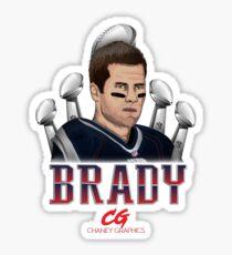 Tom Brady Cartoon - Chaney Graphics Sticker