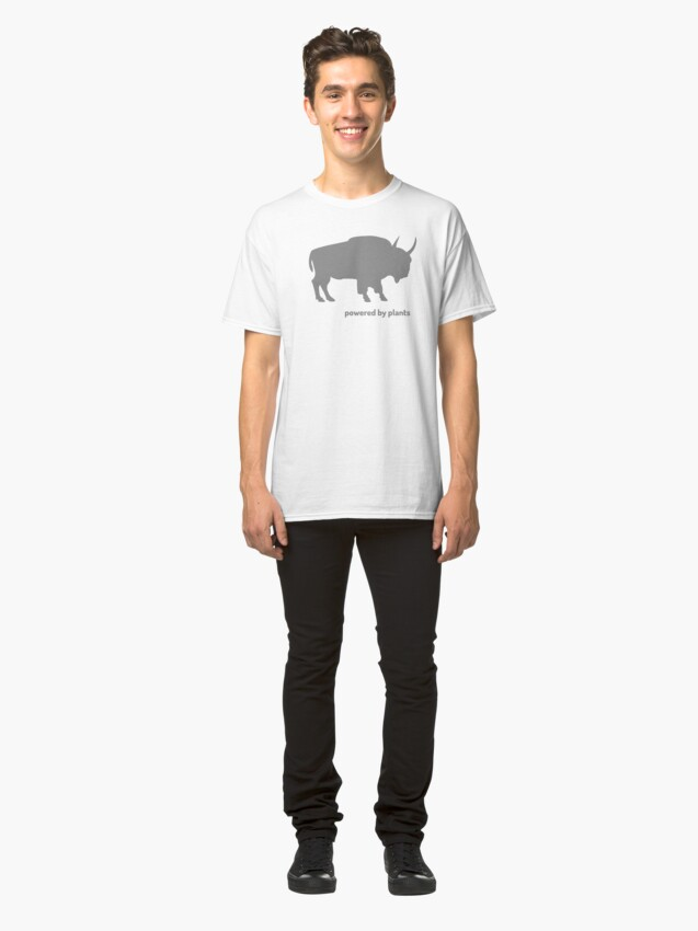 Alternate view of Buffalo - powered by plants Classic T-Shirt