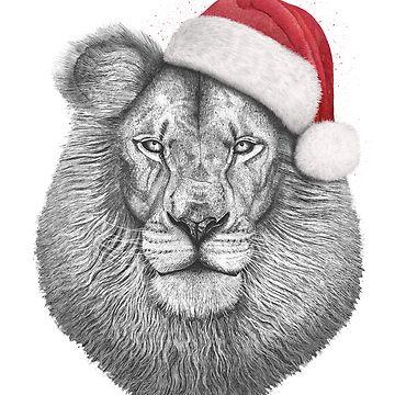 Christmas lion by kodamorkovkart