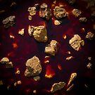 Rocks in a Blood Red Pool by Ralph Goldsmith
