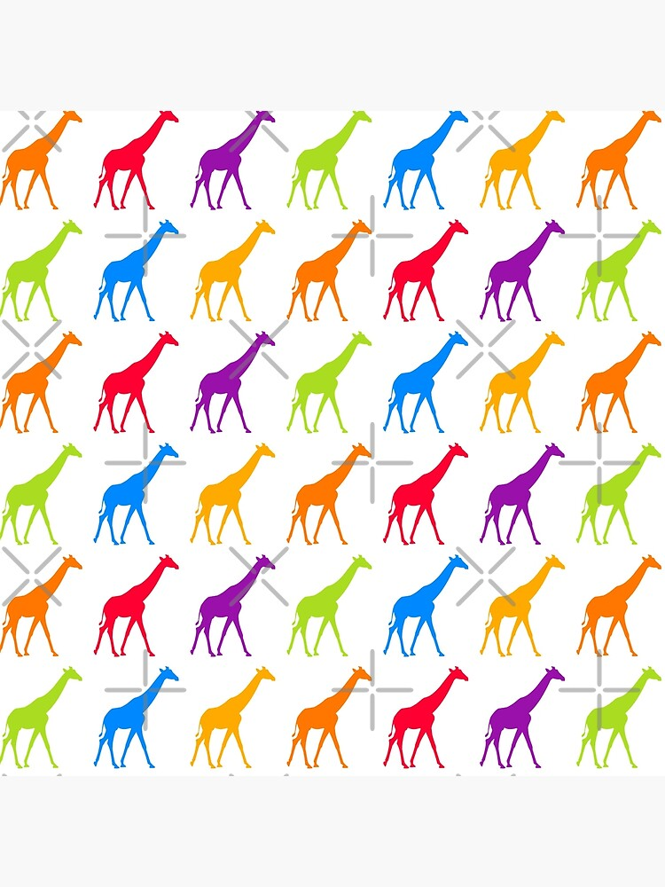 colorful giraffe pattern by PlantVictorious