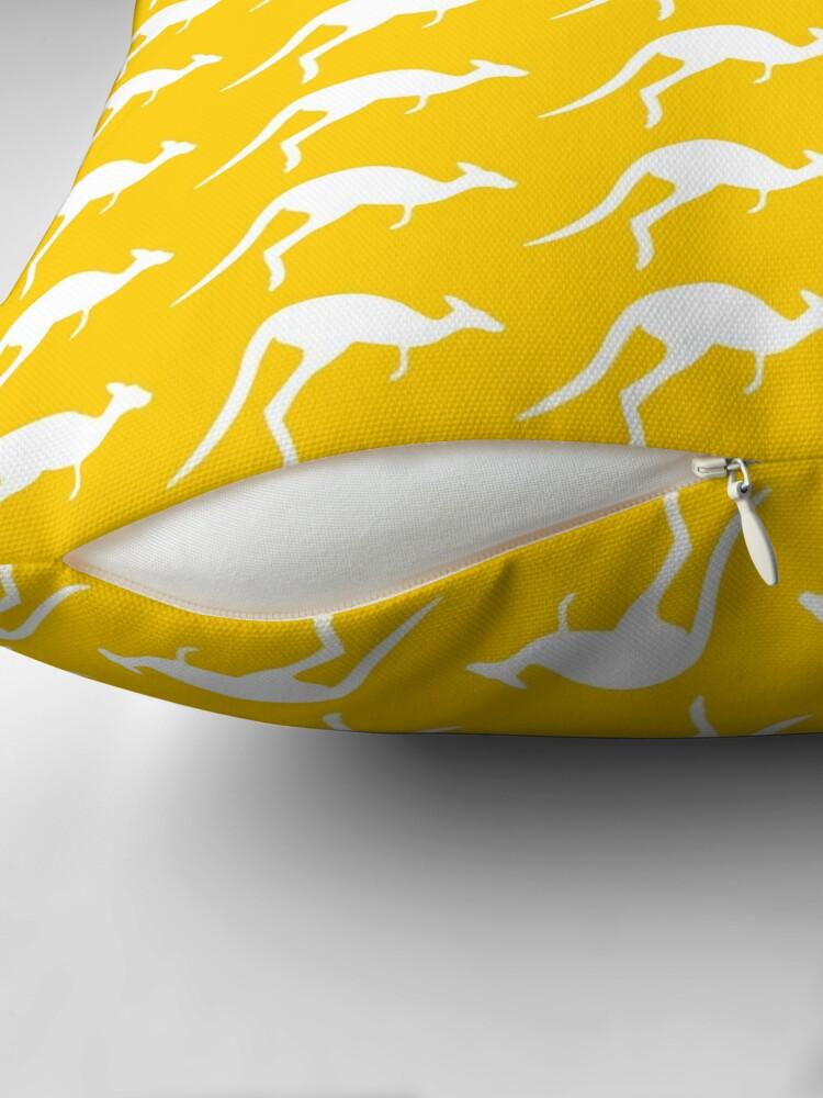 Alternate view of kangaroo pattern Throw Pillow