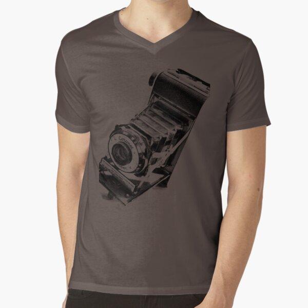 Retro Vintage Camera V-Neck T-Shirt