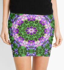 Sweet Pea Floral Purple Pink Mandala Kaleidoscope Zen Psychedelic Fragile Essence  Mini Skirt