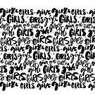 «Chicas escritas a mano. Patrón del feminismo.» de Anna Kutukova