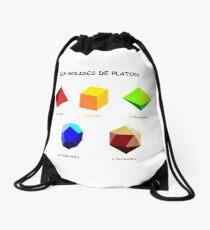Platonic solids Drawstring Bag