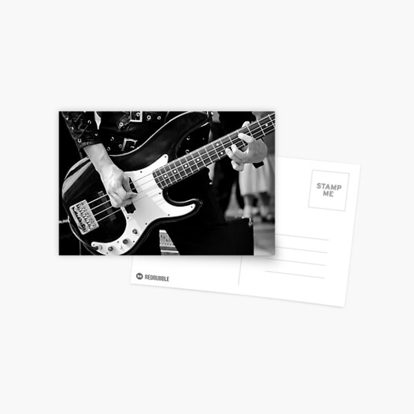 Bass player Postcard