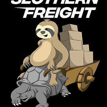 Sloth Riding Giant Tortoise Turtle Slothern Freight by javaneka