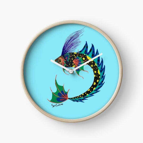 Siamese fighting fish The Fish of Thailnad the betta painting Clock