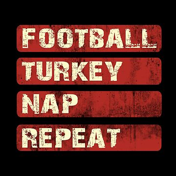 Vintage American Football Thanksgiving T-Shirt for Men Women by KhushbooLohia