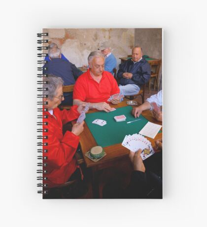 The Card Players, Sorrento, Italy Spiral Notebook