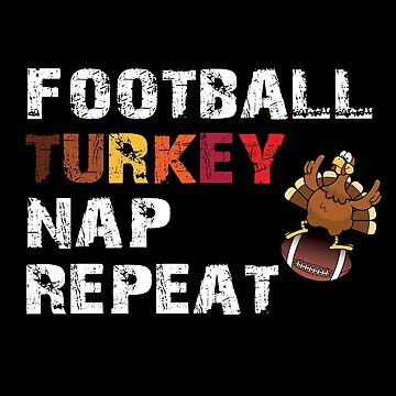 Retro Thanksgiving TShirt Funny Football and Turkey Tee by KhushbooLohia