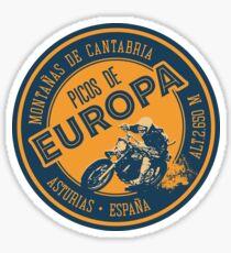 Picos de Europa Motorrad T-Shirt + Aufkleber Sticker