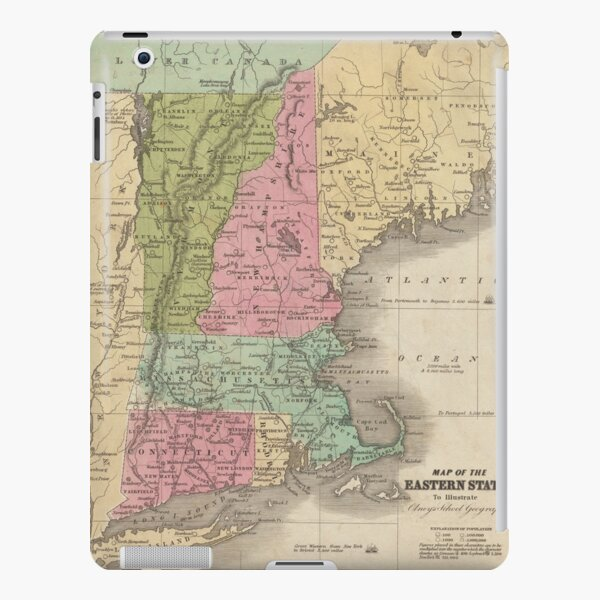 Vintage Map of New England (1829) iPad Snap Case