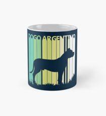 Cute Dogo Argentino Silhouette Classic Mug