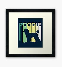 Cute Poodle Silhouette Framed Print